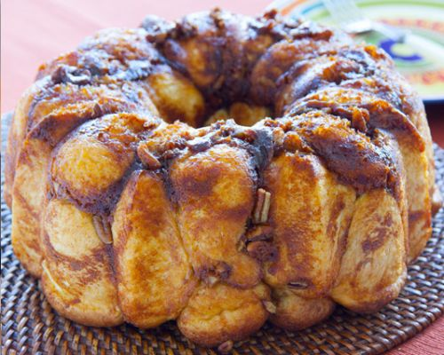 Pumpking Cream Cheese Pull Apart