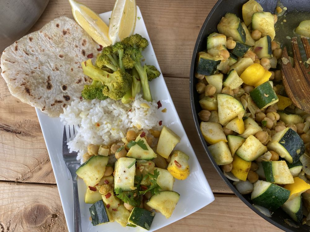 Indian Zucchini and Pattypan Curry