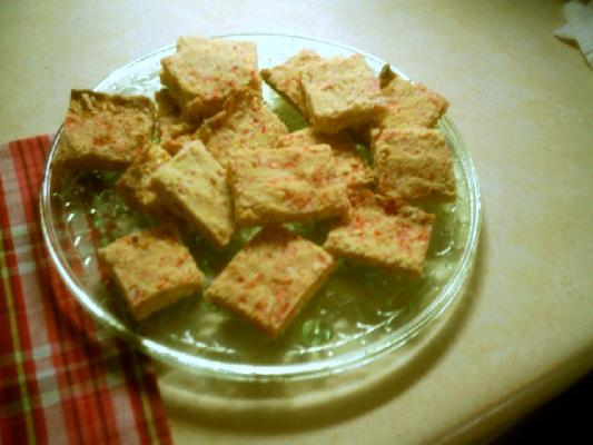 Peppermint Crumb Squares