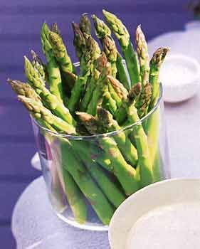 Asparagus with Wasabi Mayonnaise