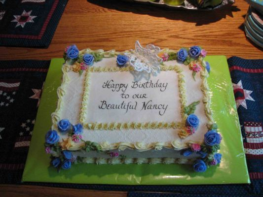 Birthday cake for my sister Nancy