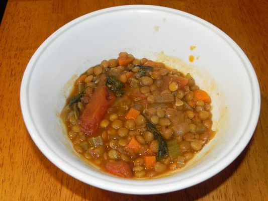 Lentil Soup (and it's vegan! )
