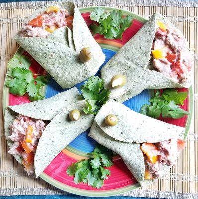 Tuna Veggie Wraps