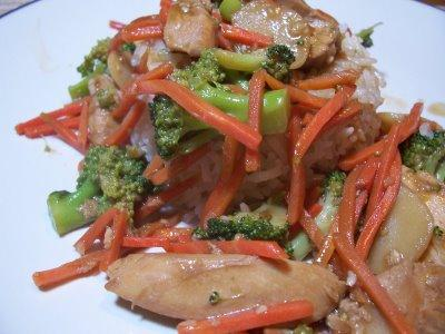 Basic Stir-fry With Garlic Sauce
