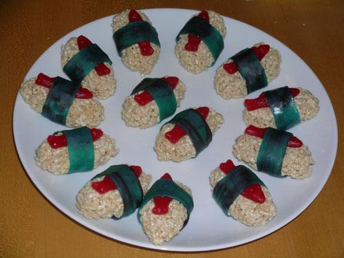 Rice Krispie Sushi Treats