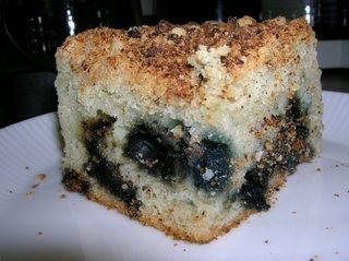 Blueberry Almond Struesel Cake