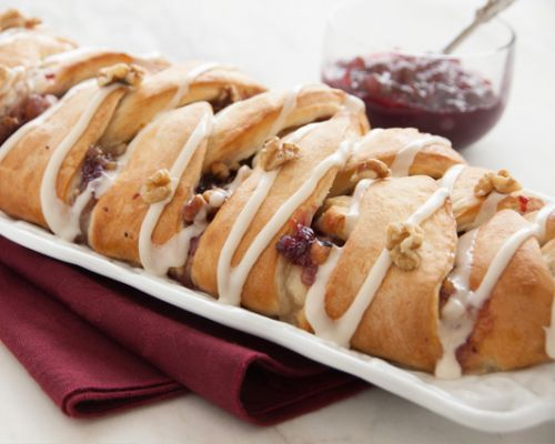 Apple Cranberry Braid