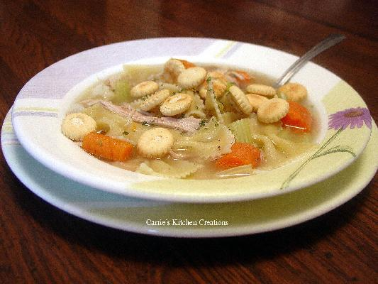 Chicken And Bow Tie Soup