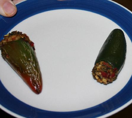 Vegan Stuffed Hot Chile Peppers