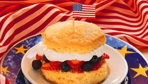 Red, White And Blueberry Shortcakes