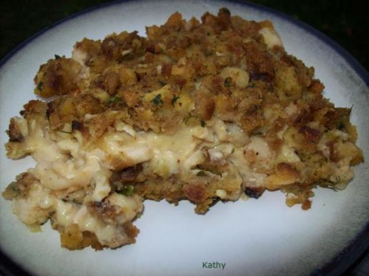 Easy Chicken & Stuffing Bake