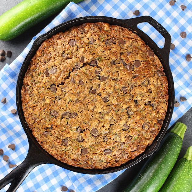 Chocolate Chip Zucchini Skillet Cake