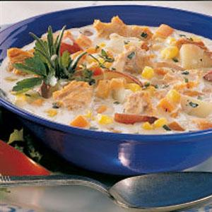 Salmon Chowder For Two