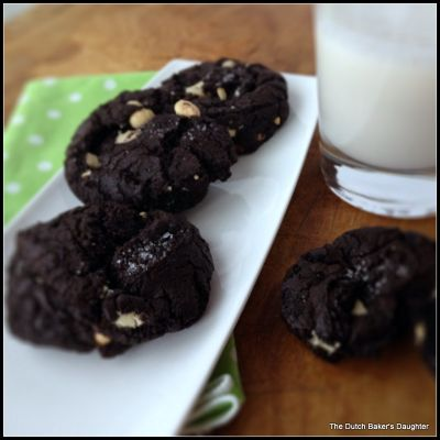 Dark Chocolate White Chocolate Chunk Cookies with Sea Salt