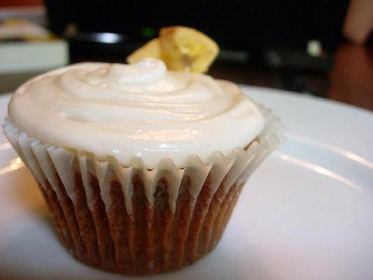 Banana-Chocolate Cupcakes With Maple Frosting