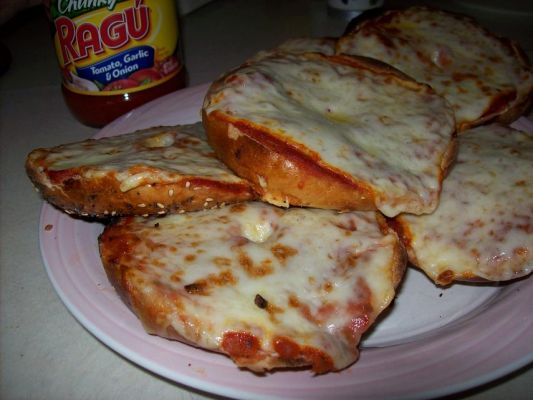 Countertop Pizza Oven Recipes : Toaster Oven Pizza Bagels Recipe - BakeSpace