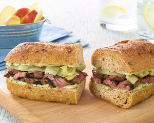 Pesto Steak Artichoke Sandwich