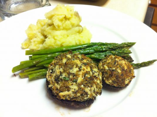 Savory Quinoa Stuffed Mushrooms