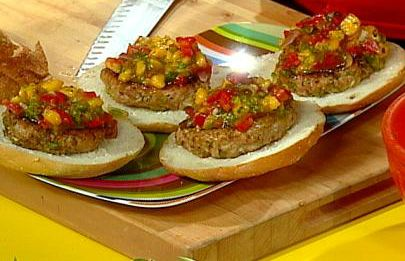 Jerky Turkey Burgers With Papaya Salsa
