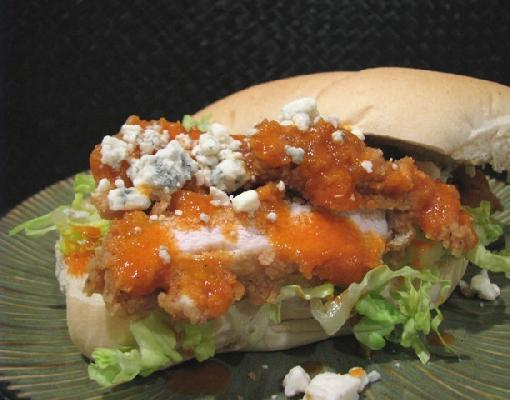Buffalo Chicken Sandwich With Gorgonzola Crumbles