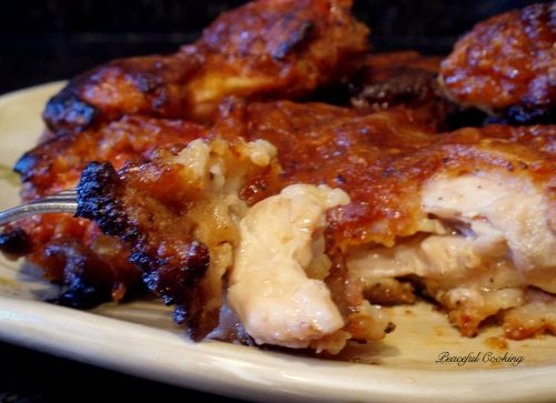 BBQ Oven Fried Chicken