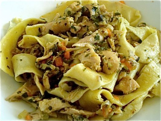 Pappardelle with Rabbit and Mushroom Ragu`