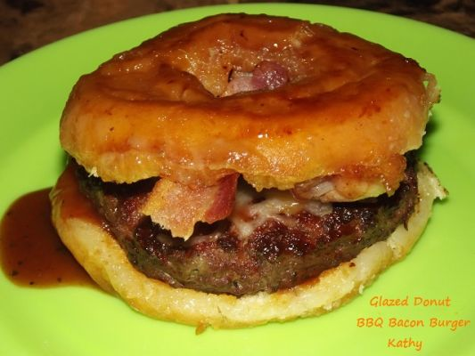 Glazed Donut BBQ Bacon Burger