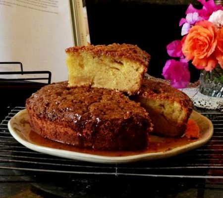 Rustic Olive Oil Cake with Honey Syrup