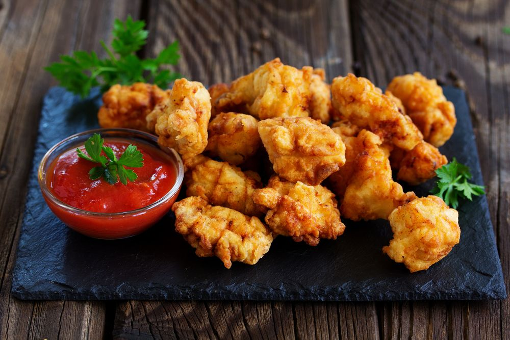 Batter-dipped Chicken Nuggets Or Strips