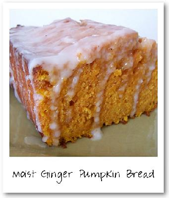 Moist Ginger Pumpkin Bread