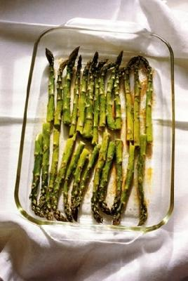 Roasted Balsamic Garlic Asparagus Appetizer