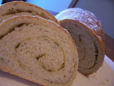 Garlic Herb Swirl Bread