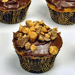 Heath Bar Chocolate Banana Bread Mini Cupcakes by ScottyMac