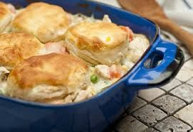 Creamed Chicken with Biscuits