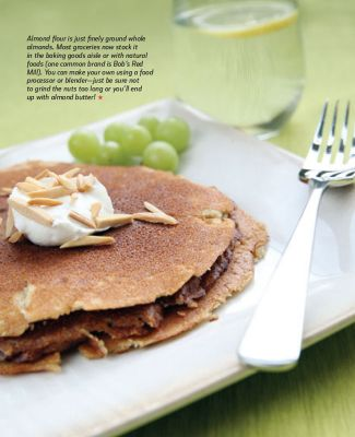 Training Snax- Hearty Cinnamon Almond Pancakes