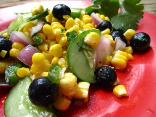 Corn Blueberry Salad