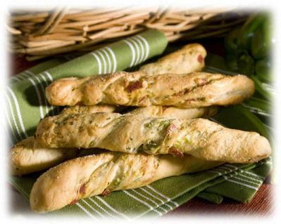 Italian Kaleidoscope Bread Sticks