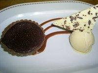 Warm Chocolate Coffee Tarts With Bailey's Ice Cream