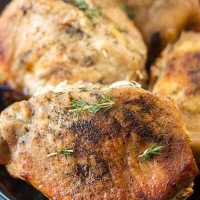 APPLE THYME STUFFED PORK CHOPS