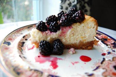Minted Blackberry Cheesecake