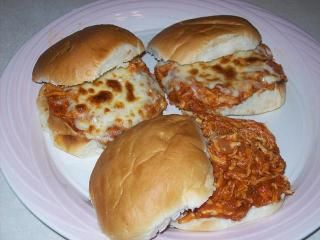 Cheesy Chicken Pizzaiola Sandwiches