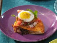 Crispy Bacon and Hash Brown Quesadillas with Fried Eggs