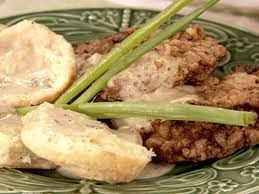 COUNTRY FRIED STEAK WITH MILK GRAVY