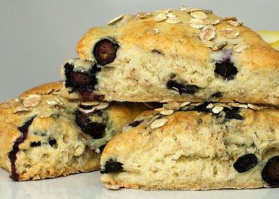 Oat Lemon Blueberry Scones