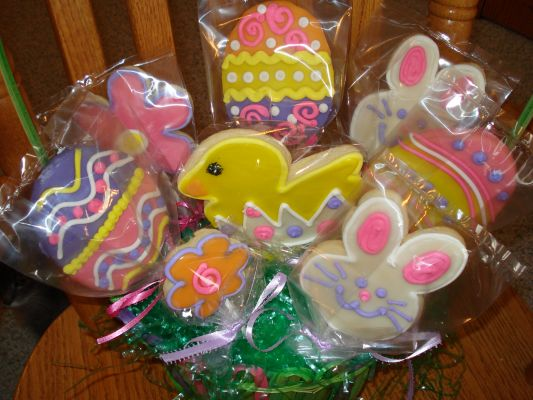 My Latest Easter Cookie Bouquet