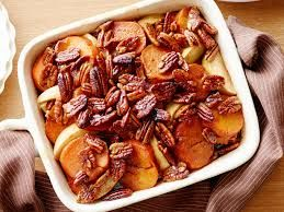 Pralined Sweet Potatoes and Apples