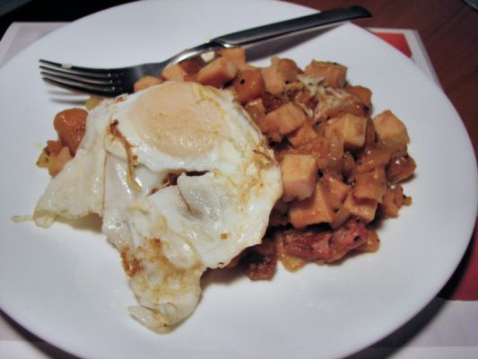 turkey and sweet potato hash
