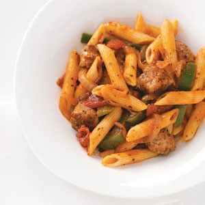 Smoked Sausage with Penne and Veggies