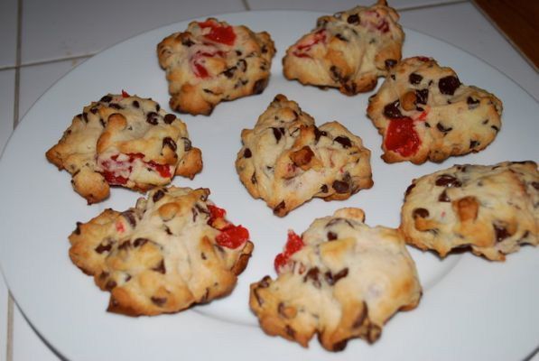 Cherry Almond Chocolate Chip Cookies