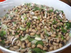 Greek style black eyed pea salad